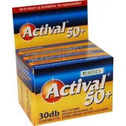 BÉRES ACTIVAL 50+ FILMTABLETTA 30DB